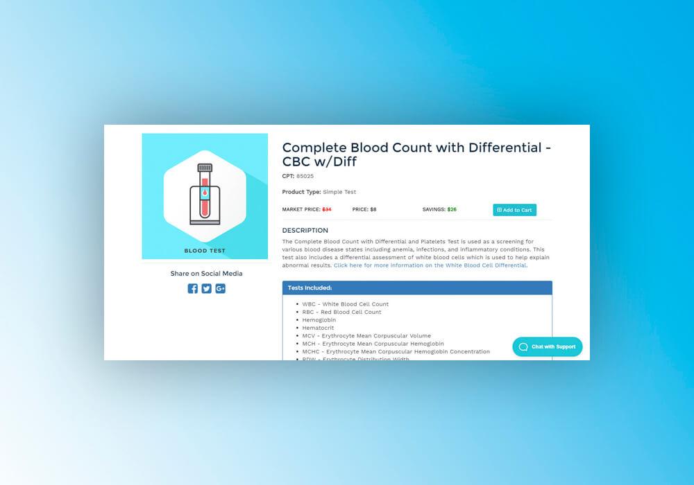 Digitalizing clinical laboratory testing web development