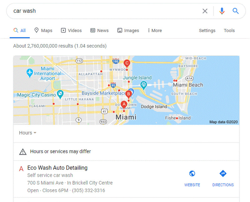 Google My Business helps website ranking higher on the local markets